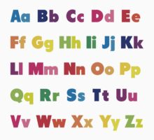 Alphabet BRIGHTS! A, B, C... T-Shirt