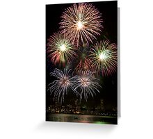 High Five - Sydney Harbour - New Years Eve - Midnight Fireworks  Greeting Card