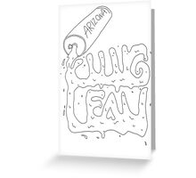 lean spill Greeting Card