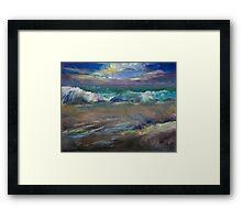 Moonlit Waves Framed Print