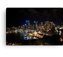 Sydney Nightlights  Canvas Print