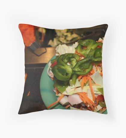 The Mongolian Restaurant Buffet the Beginning Throw Pillow