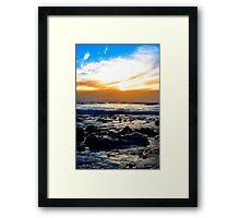 serene seas at rocky beal beach Framed Print