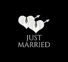 Just Married Tuxedo Heart Tie by LiveLoudGraphic