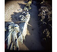 Beachy Winter Light Sand Photographic Print