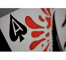 Ace of Blades Photographic Print