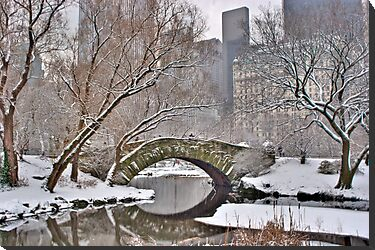 All the Trolls Are In Miami-Gapstow Bridge In Snow  New York City (HDR) by Dave Bledsoe
