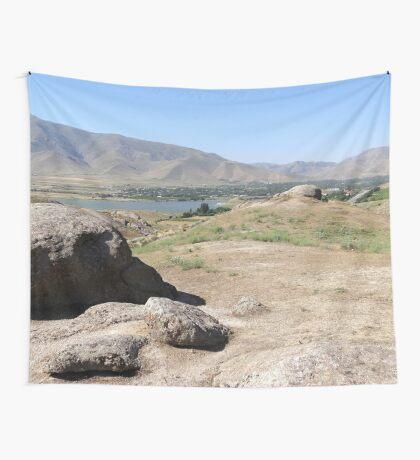 a historic Uzbekistan landscape Wall Tapestry