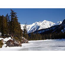Frozen river Photographic Print