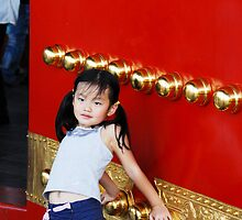 China  Beijing Chinese Girl Leaning by noelmiller