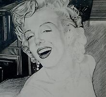 Marilyn (in progress) by Christopher  Salmon