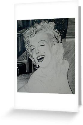 Marilyn (in progress) by Christopher  Salmon