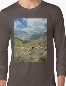 a large Uzbekistan landscape Long Sleeve T-Shirt