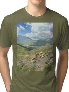 a large Uzbekistan landscape Tri-blend T-Shirt