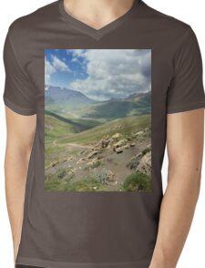 a large Uzbekistan landscape Mens V-Neck T-Shirt