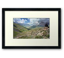 a large Uzbekistan landscape Framed Print