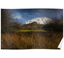 Manod mountain in snow Poster