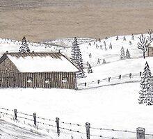 Winter barn by Samohsong