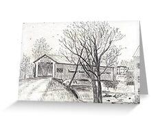 Bridgeton covered bridge Greeting Card