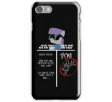 Basic of Jokes (WHITE TEXT) iPhone Case/Skin