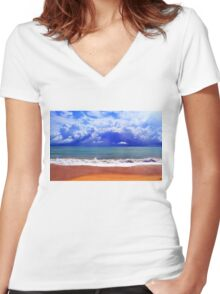Storm On The Horizon Women's Fitted V-Neck T-Shirt