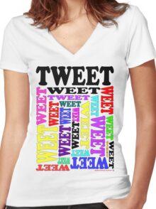 Tweet T-Shirt Women's Fitted V-Neck T-Shirt