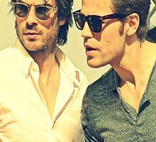 Ian Somerhalder and Paul Wesley Phone Case by 3azza
