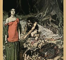 Siegfried & The Twilight of the Gods by Richard Wagner art Arthur Rackham 1911 0237 The Wooing of Grimhilde by wetdryvac