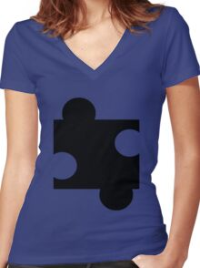 Puzzle Piece Women's Fitted V-Neck T-Shirt
