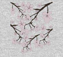 Sakura Blossoms One Piece - Long Sleeve