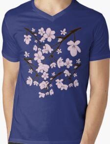 Sakura Blossoms Mens V-Neck T-Shirt