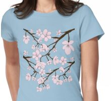 Sakura Blossoms Womens Fitted T-Shirt