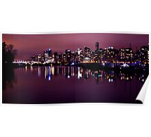 Skyline Reflections Poster