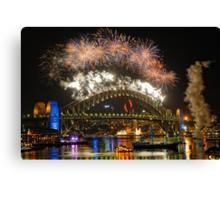 Sydney New Years Eve Fireworks 2009 - 2010 Sydney Harbour Bridge Canvas Print