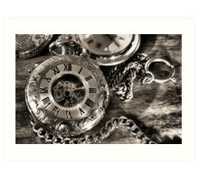 Time piece.Watches on the table, Art Print