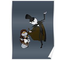 Sailor Sally and Tuxedo Skellington Poster