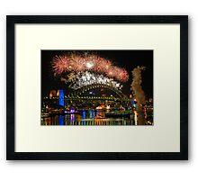 Sydney New Years Eve Fireworks 2009 - 2010 Sydney Harbour Bridge Framed Print