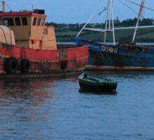 Summer Sunset: Twilight Boats, Irish Sea Sticker