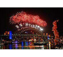 Sydney New Years Eve Fireworks 2009 - 2010 Sydney Harbour Bridge Photographic Print