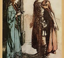 Siegfried & The Twilight of the Gods by Richard Wagner art Arthur Rackham 1911 0205 Siegfried Hands the Drinking Horn Back to Gertrude by wetdryvac