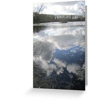Mirror the Sky: Landscape in Water Greeting Card