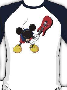 Mickey Mouse Smashing Guitar T-Shirt