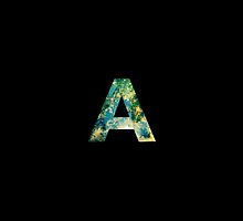 Letter A on Black 2 by cempakabali