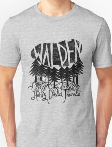 Walden (black) Unisex T-Shirt
