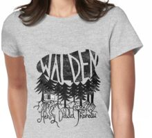 Walden (black) Womens Fitted T-Shirt