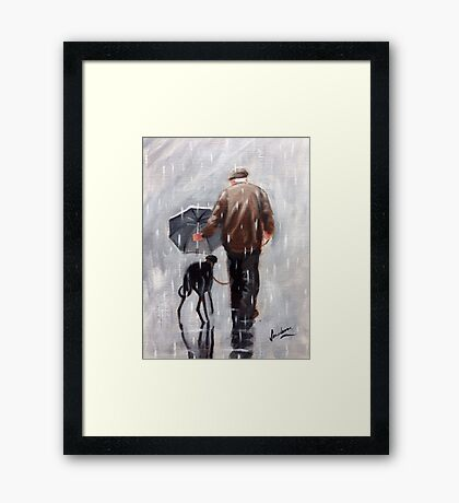 Well he is getting on a bit! Framed Print