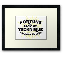 Fortune Favors the Technique Framed Print
