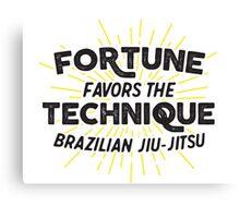 Fortune Favors the Technique Canvas Print