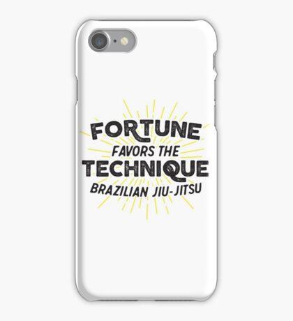 Fortune Favors the Technique iPhone Case/Skin