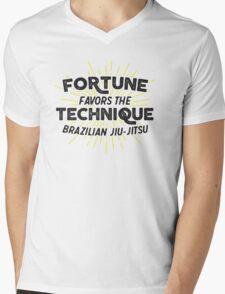 Fortune Favors the Technique Mens V-Neck T-Shirt